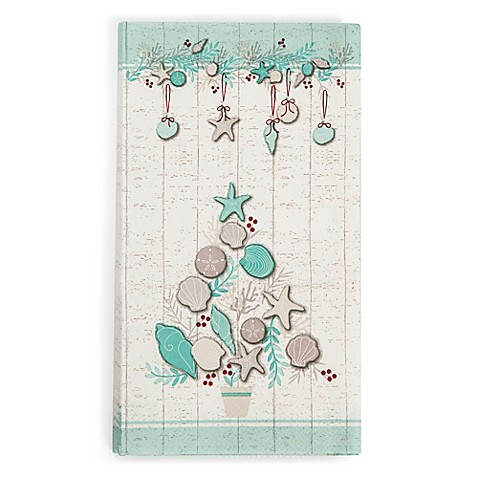 Buy coastal christmas 20 count paper guest towels from bed - Disposable guest towels for bathroom ...