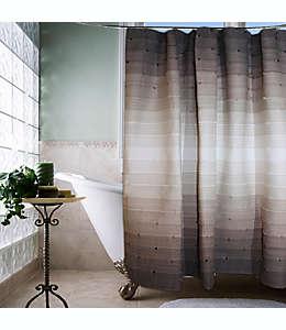 Cortina para baño Park B. Smith® rayas acentuadas con hilos anudados