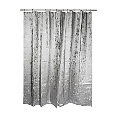 image of India Ink Etched Rose Shower Curtain in Grey