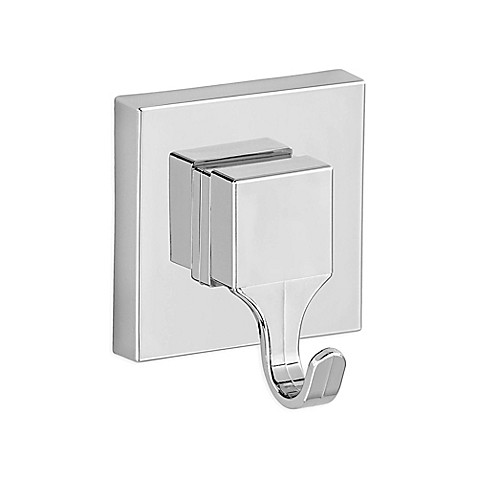 buy wenko vacuum loc quadro wall hooks in chrome set of 2 from bed bath beyond. Black Bedroom Furniture Sets. Home Design Ideas