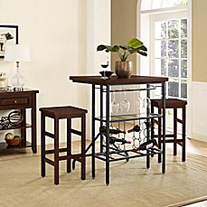 image of crosley sienna 3piece casual dining set