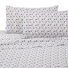 image of IZOD® Oars Sheet Set in White