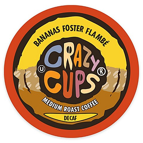 22 Count Crazy Cups 174 Decaf Banana Foster Flambe Flavored