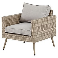 Image Of INK+IVY Avery Outdoor Chaise Lounge In Light Grey