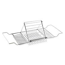 image of Jumbo Chrome-Plated Bathtub Caddy