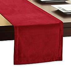 image of Winter Wonderland Velvet Table Runner in Red
