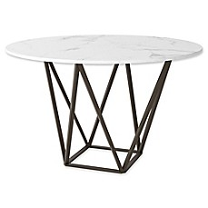 image of Zuo® Tintern Dining Table in Stone/Antique Brass