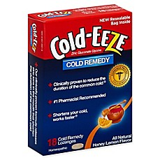 image of Cold-Eeze® 18-Count Zinc Lozenges in Honey Lemon