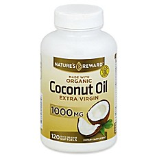 image of Nature's Reward 120-Count 1000 mg Extra Virgin Coconut Oil Quick Release Softgels