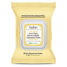 image of babo Botanicals® 30-Count 3-in-1 Sensitive Baby Face, Hand and Body Wipes in Oatmilk & Calendula