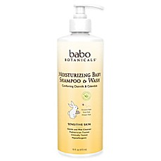 image of babo Botanicals® 16 oz. Moisturizing Baby Shampoo & Wash in Oatmilk & Calendula