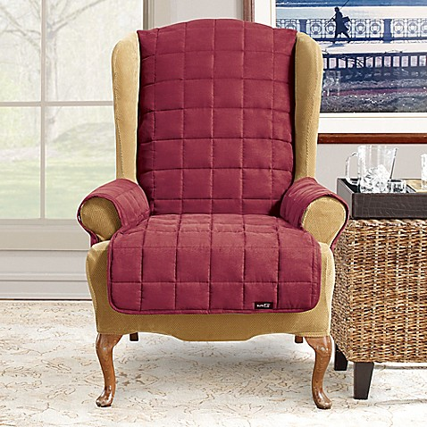 sure fit waterproof wingback chair slipcover bed bath