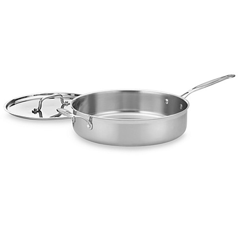 Cuisinart® MultiClad Pro Triple-Ply Stainless 5 1/2-Quart Saute Pan with Lid