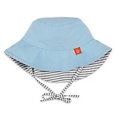 image of Lassig™ Reversible Sun Protection Stripe Bucket Hat in Blue/Grey