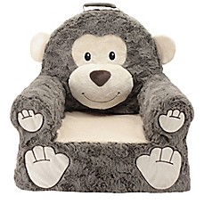 image of Sweet Seats® Plush Monkey Chair in Brown