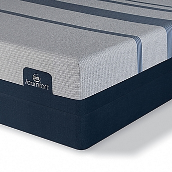 Image Of Serta Icomfort Blue 3000 Elite Plush Low Profile Mattress Set