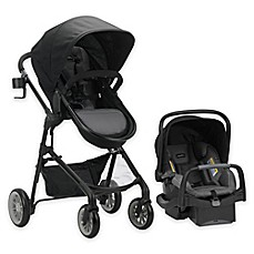 image of Evenflo® PivotPlus Modular Travel System with SafeMax™ SensorSafe Infant Car Seat
