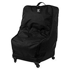 image of J.L. Childress Deluxe Car Seat Travel Wheelie Bag in Black