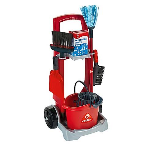 Kettler 174 O Cedar 7 Piece Toy Cleaning Trolley In Red