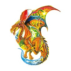 image of SunsOut 1000-Piece Dragon Dreams Shaped Jigsaw Puzzle