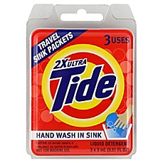 image of Tide® 3-Count Travel Liquid Detergent Sink Packets