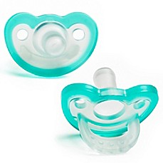 image of RaZbaby JollyPop 3M+ 2-Pack Silicone Pacifiers in Blue