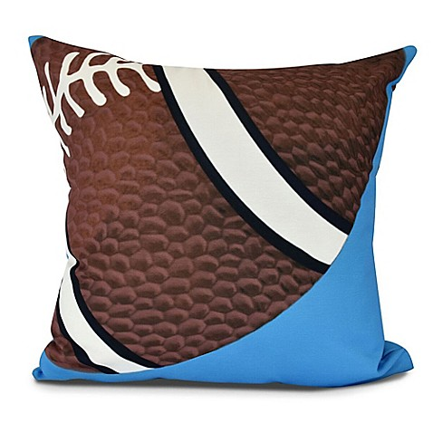 E by Design TD Geometric Throw Pillow in Blue from Buy Buy Baby