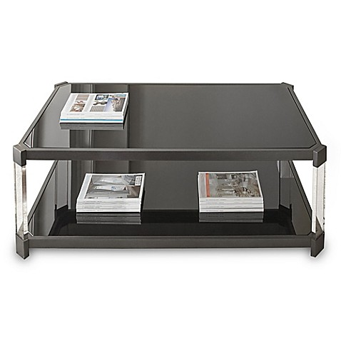 Steve Silver Co Newton Cocktail Table With Casters In Black Bed Bath Beyond