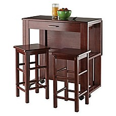 Winsome Trading 3 Piece Fremont Dining Set In Walnut