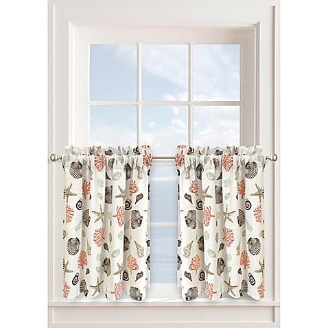 Buy Seashore 36 Inch Window Curtain Tier Pair In Seafoam From Bed Bath Beyond
