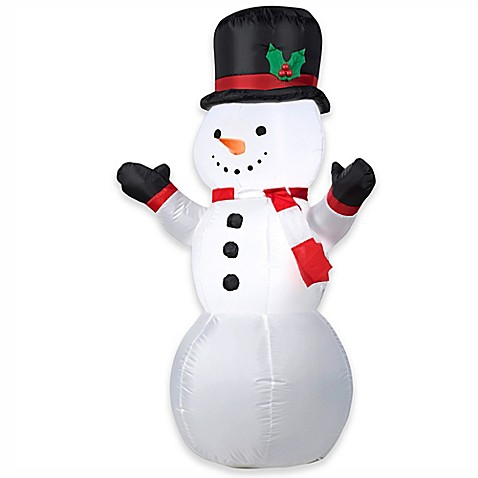 Gemmy Snowman 48-Inch Airblown® Inflatable Lawn Character