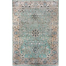 image of Verona Atlantis Rug in Light  Blue/Tan