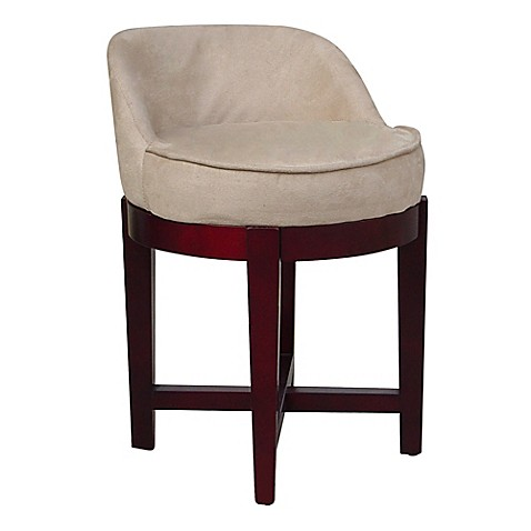 Buy Elegant Home Fashions Lucy Swivel Vanity Stool In Cherry Beige From Bed Bath Beyond