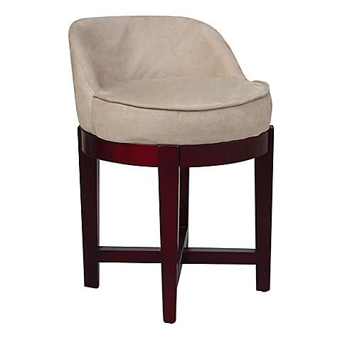 Buy elegant home fashions lucy swivel vanity stool in cherry beige from bed bath beyond - Elegant vanity stools ...