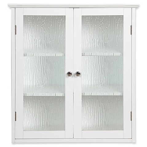 Elegant Home Fashions Olivia 2 Door Wall Cabinet In White Bed Bath