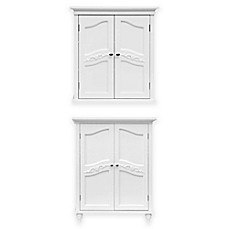 image of Elegant Home Fashions Versailles Cabinet Collection in White