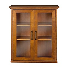 image of elegant home fashions tabitha 2door wall cabinet in oil oak