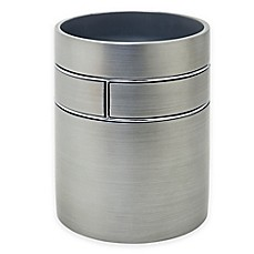 image of India Ink™ Blair Wastebasket in Pewter