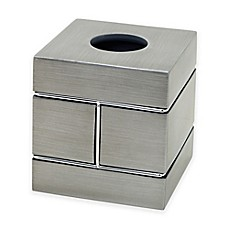 image of India Ink™ Blair Tissue Box Cover in Pewter
