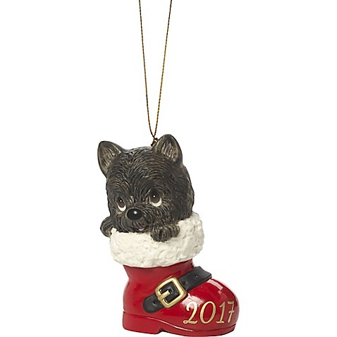 Precious Moments® Medium Have a Pawsitively Soleful Christmas Ornament in Red