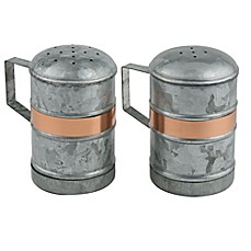 image of Thirstystone® Galvanized Iron and Copper Salt and Pepper Shakers