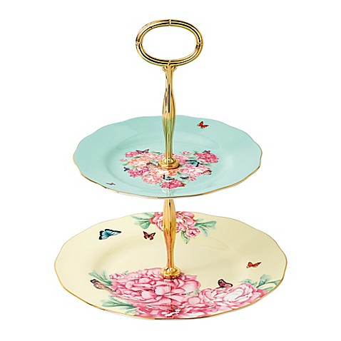 Tier Cake Stand Gold Trim