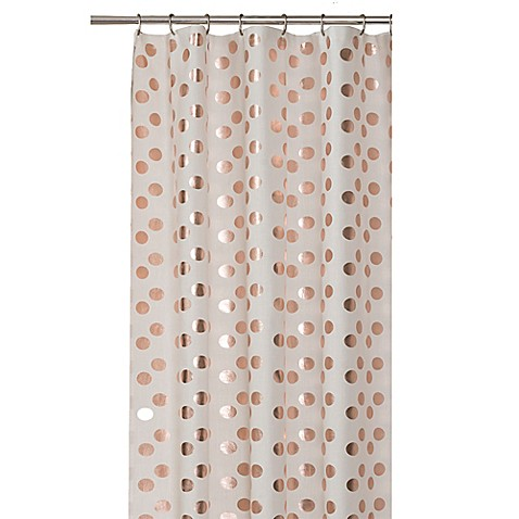 Dazzle Shower Curtain In Rose Gold Bed Bath Beyond