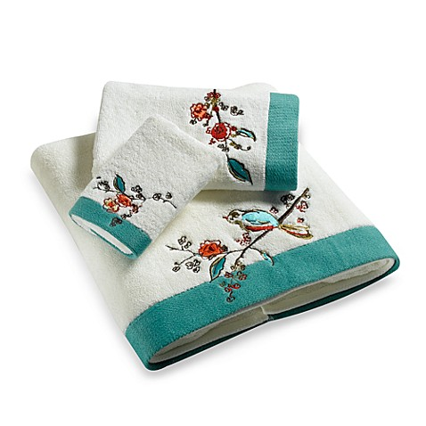 Simply Fine Lenox Chirp Embroidered Fingertip Towel Bed