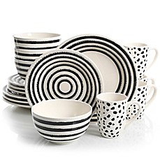 image of Laurie Gates Naivete 16-Piece Dinnerware Set