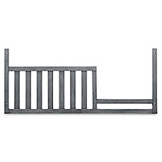 image of Soho Baby Manchester Guard Rail Crib in Rustic Grey