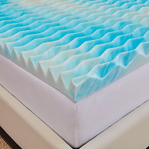 buy authentic comfort bluewave 2 inch california king memory foam mattress topper from bed bath. Black Bedroom Furniture Sets. Home Design Ideas