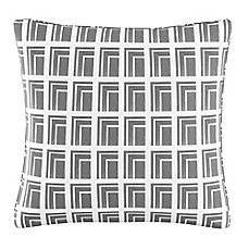 image of Cloth & Company Geometric Print Throw Pillow in Achitecture Grey
