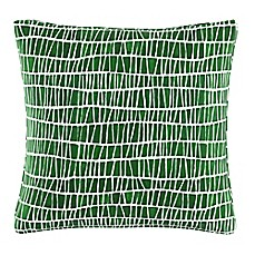 image of Cloth & Company Mesh Pattern Throw Pillow in Objects Green