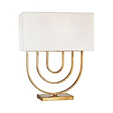 image of Neil 1-Light Ceiling Mount 18-Inch Pendant Light in Gold Leaf